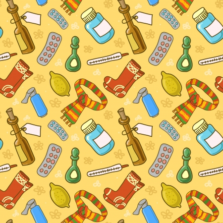medical seamless pattern Illustration