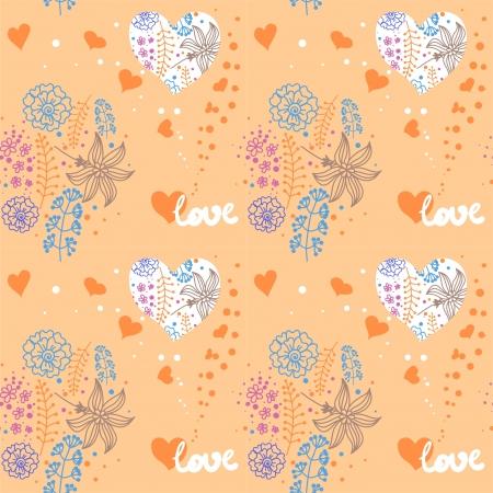 floral pattern Valentine Stock Vector - 17591113