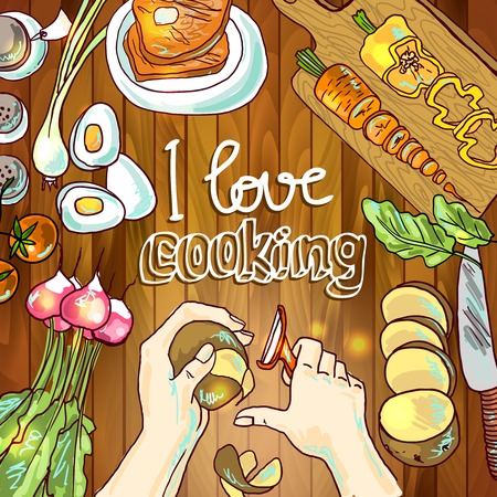 cooking icon: illustration of cooking