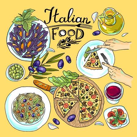 Italienische Küche Standard-Bild - 35468199