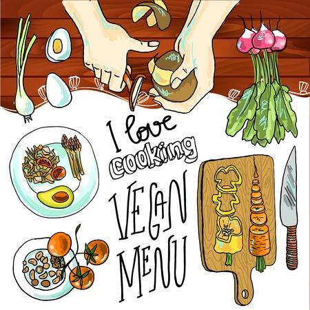 ilustraci�n de la cocina Vectores