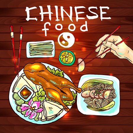 chinese food Stock Vector - 35606656