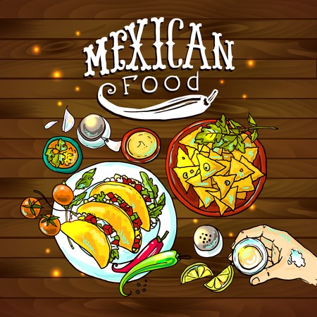 illustration mexican food