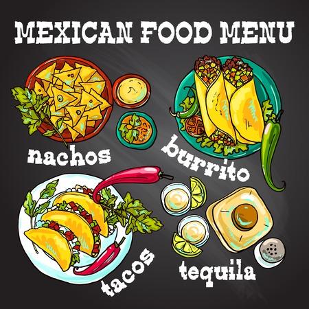 mexican food illustration Illustration