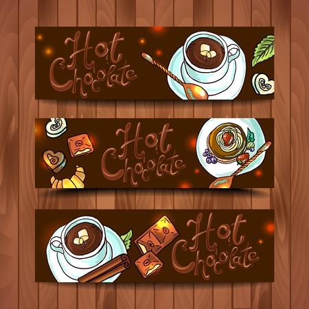 chocolat chaud: belles banni�res chocolat chaud