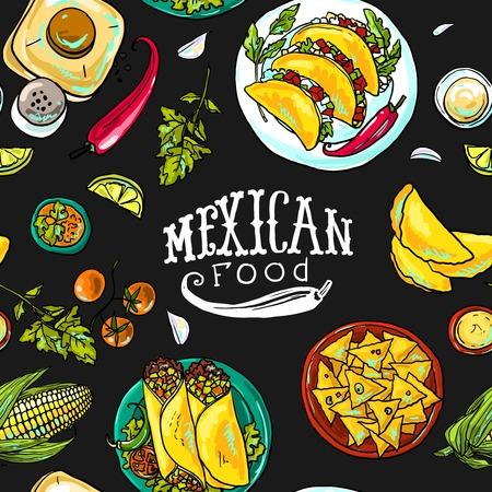 Simpless Muster Mexikanisch Standard-Bild - 35610769