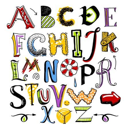 coma: doodle color alphabet