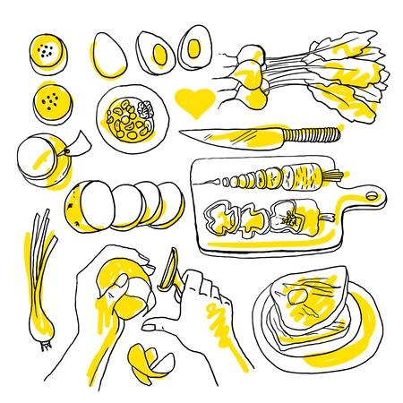 cooking recipe: illustration of cooking