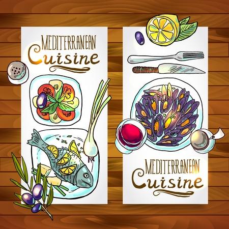 vertical banners of mediterranean cuisine