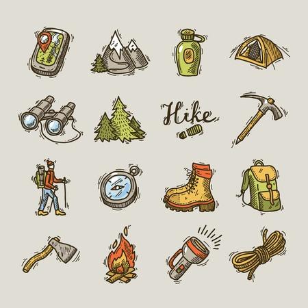 アイコンをハイキングします。