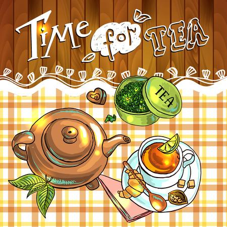tea background 向量圖像