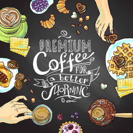 cofee background Stock Illustratie