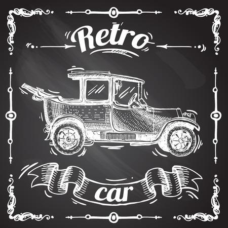 taxista: coche retro