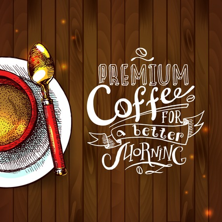 cofee background Vettoriali