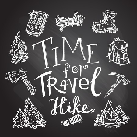 hike icons Vector