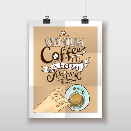 contemporary taste: coffee poster Illustration