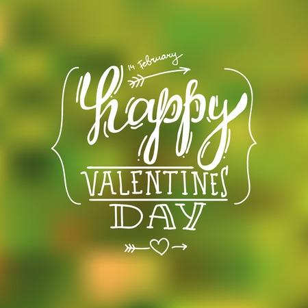 Feliz d�a de San Valent�n de la mano de la letra de
