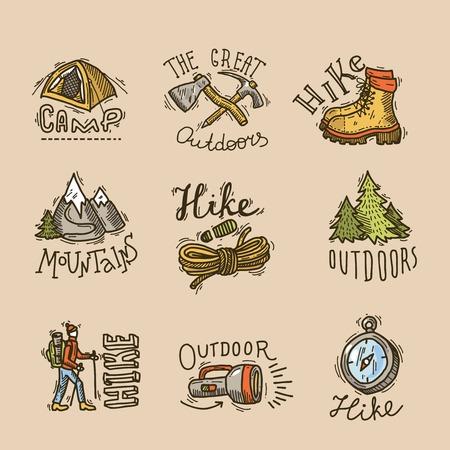 ice ax: hike emblems