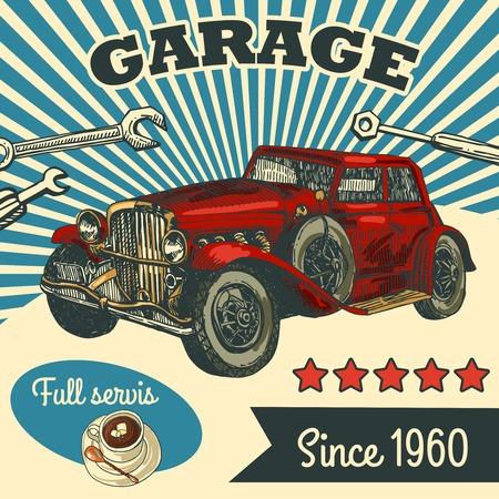 Rétro voiture Banque d'images - 36026953