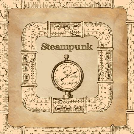 copper pipe: steampunk Illustration