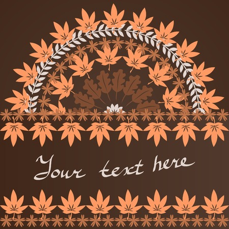 curle: autumn leaves background