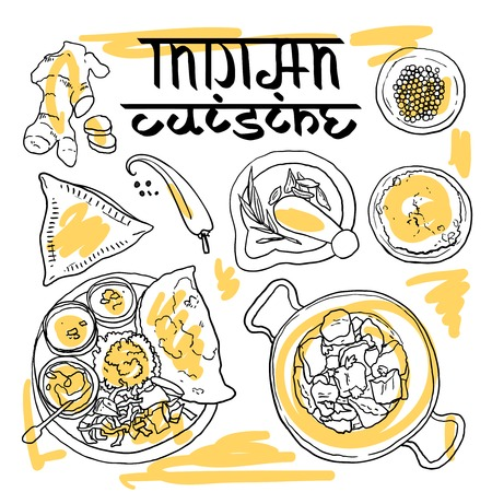 plato de comida: comida india