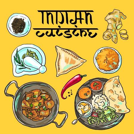 Indisches Essen Standard-Bild - 36201563