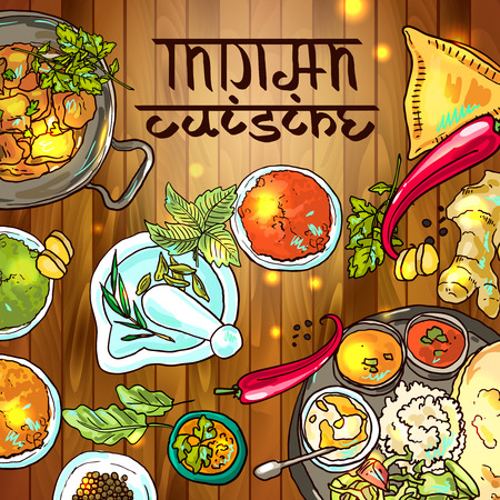 hot asian: Индийская еда