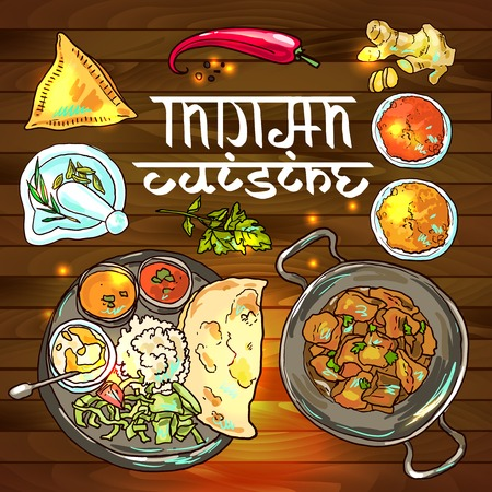 food illustration: indian food