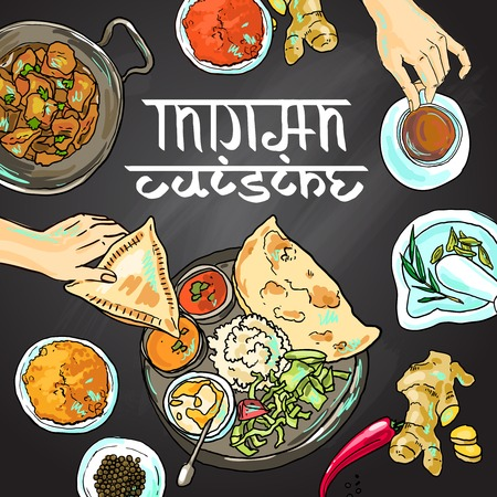 thali: indian food
