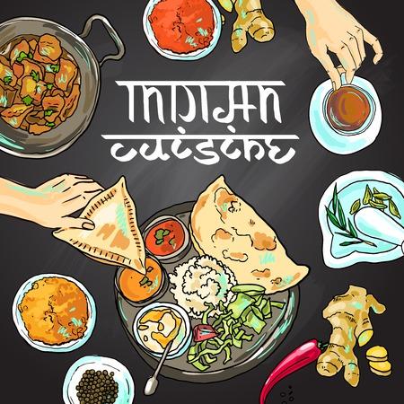 La nourriture indienne Banque d'images - 36201569