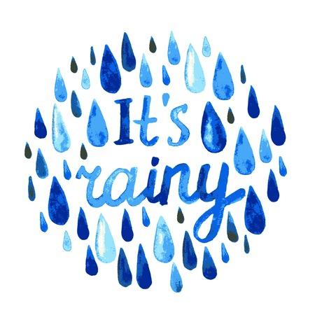 sleet: watercolor rain