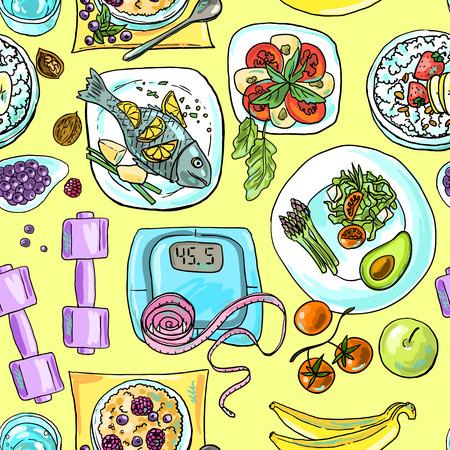 gezonde voeding Stock Illustratie