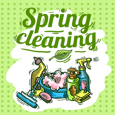 cleaning service Ilustracja