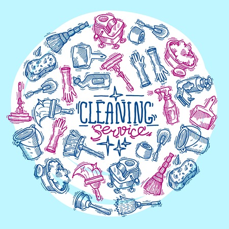 protective glove: cleaning service Illustration
