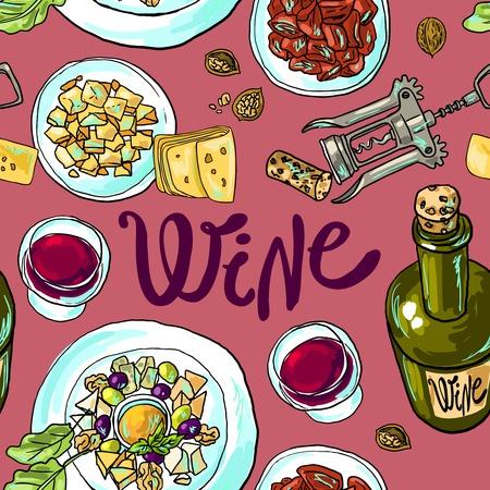 Wein und Käse Standard-Bild - 36518137