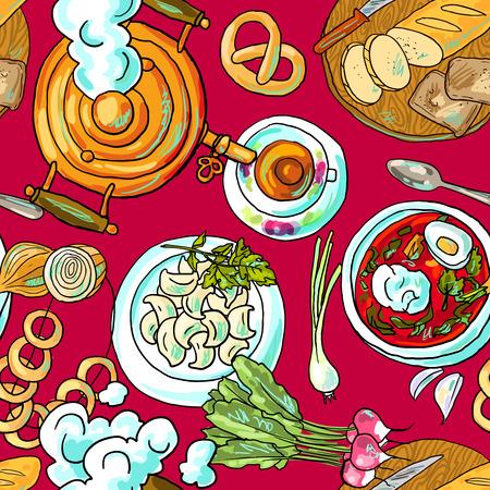 russian food Vector