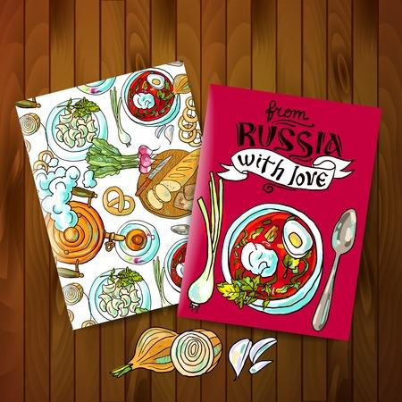 russian food: russian food