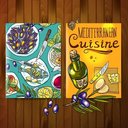 mediterrane k�che: Mittelmeer-K�che  Illustration