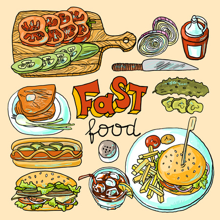 comida r�pida Vectores