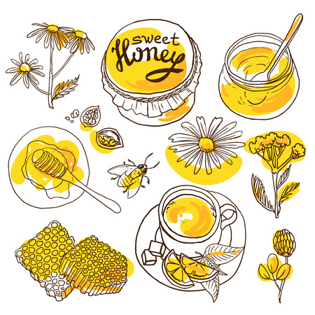 sweet honey 向量圖像