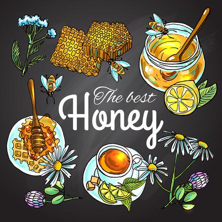 sweet honey  イラスト・ベクター素材