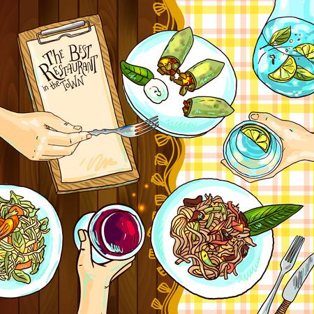 estaurant food 矢量图像