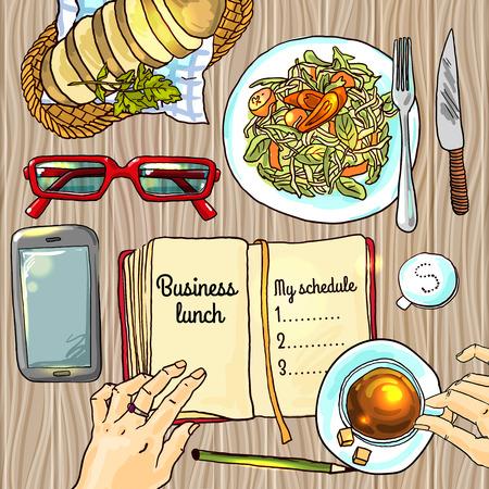 Business-Lunch Standard-Bild - 38829051