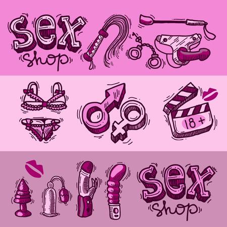 sex shop Ilustração