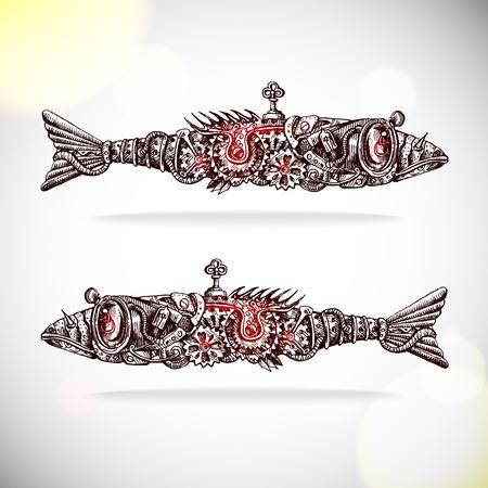 submarino: fishs mecánicas