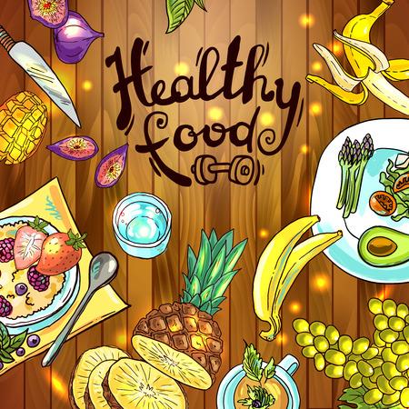 l plate: illustration fruits Illustration