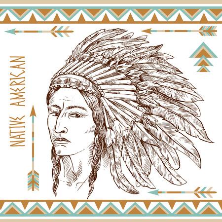indios americanos: hombre nativo americano