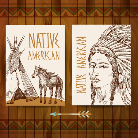 native american man: native american Illustration