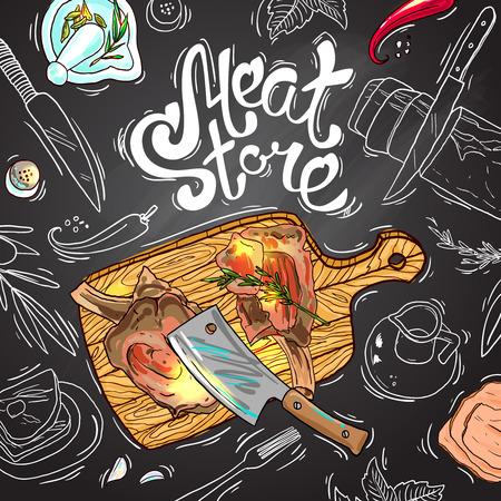 vlees winkel